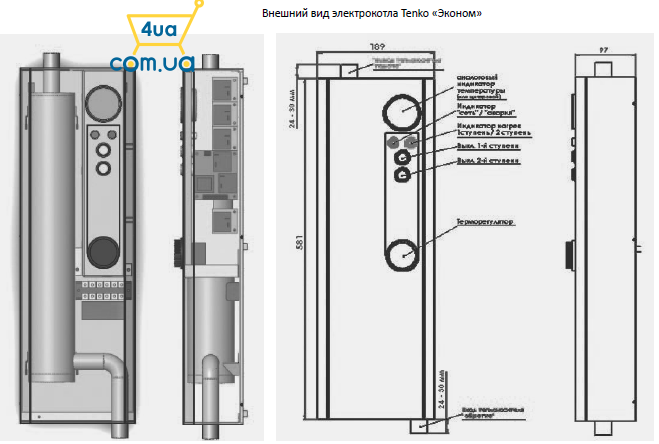 Электрокотел Тенко схематическая картинка